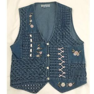 Chrysantheme Vintage 80/90s Jean Mom Costume Vest